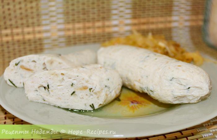 Рецепт куриных сосисок в домашних условиях