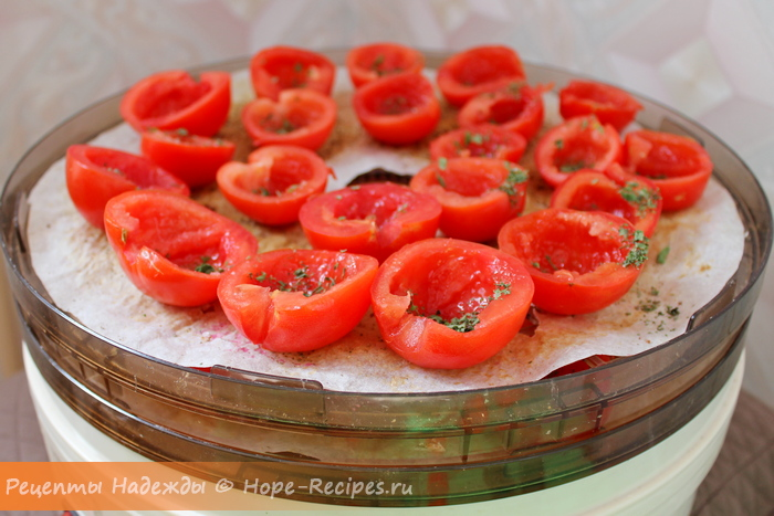 Как приготовить вяленые помидоры в электросушилке