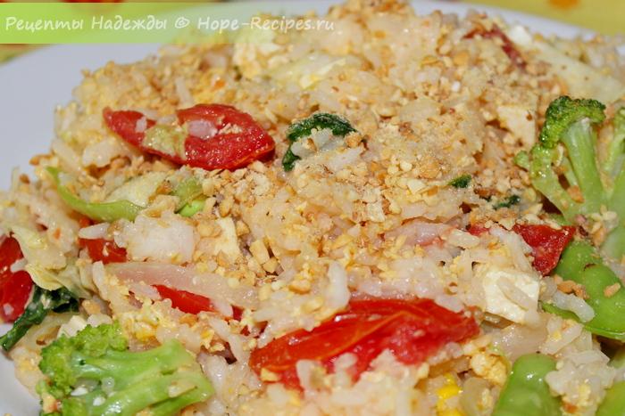 Готовим жареный рис по-тайски (вегетарианский рецепт)